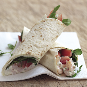 Quick Prawn Wraps recipe