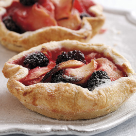 Apple & Blackberry Tartlets