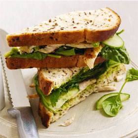 Chicken and advocado sandwich