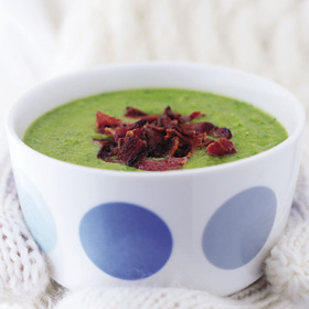 Pea and watercress soup
