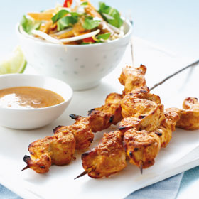 Chicken Satay from Good Food, Fast