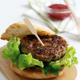 Lamb Burgers with Figs