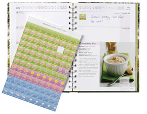New look Dairy Diary with memorable dates stickers