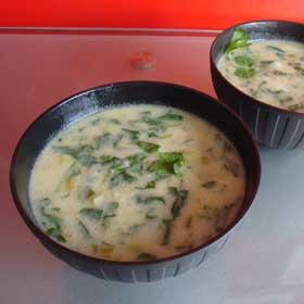 Thai Spinach & Potato Soup