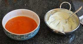 Tomato-soup-with-pesto-cream