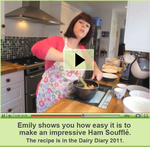 Watch Emily show you how easy it is to make an impressive Ham Soufflé.