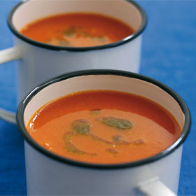 Red Pepper Soup from the Dairy Diary