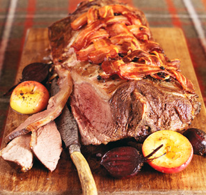 Roast Saddle of Venison from Around Britain Dairy Cookbook