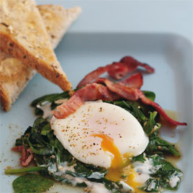 Eggs Florentine from Hearty & Healthy Dairy Cookbook