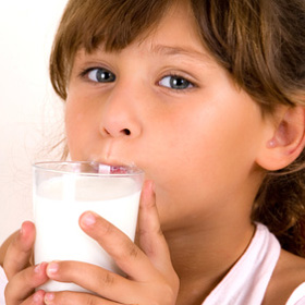 Milk helps to make strong bones