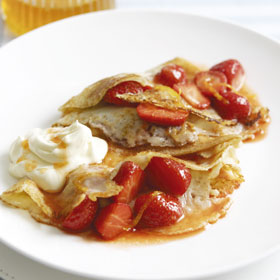 Strawberry Amaretto Pancakes