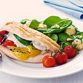 Stuffed Mediterranean Chicken from Good Food, Fast