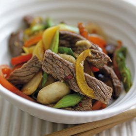 Five Spice Beef with Chillies