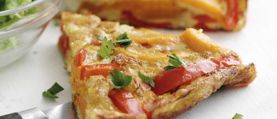 Sweet Potato and Pepper Omelette
