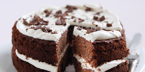 Chocolate Layer Cake from the Dairy Book of Home Cookery