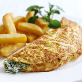 Green Omelette from Dairy Diary 2012