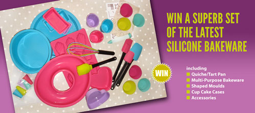 Win a superb set of silicone bakeware