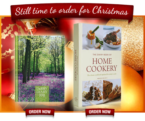 Order your Dairy Diary and Dairy Book of Home Cookery in time for Christmas