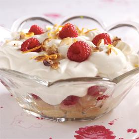 Raspberry Sherry Amaretto Trifle