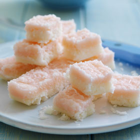 Coconut Ice from The Dairy Book of Home Cookery