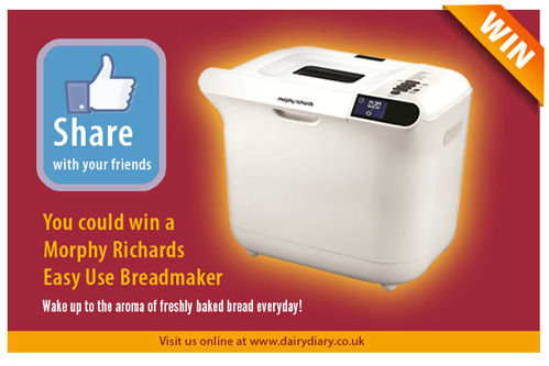 Dairy Diary Facebook competition | Win a Breadmaker