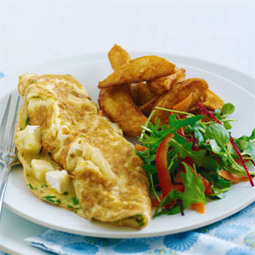 Brie & Chive Omelette recipe