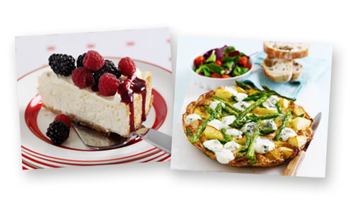 Amrican Cheesecake and Frittata receipes