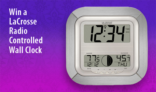 Win a LaCrosse Kitchen Clock