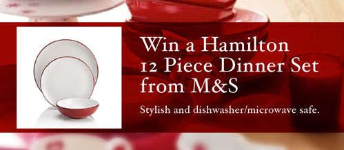 Win this Hamilton 12 Piece Dinner Set from M&S