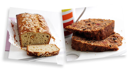 Yogurt Cake and Boiled Fruit Cake from the Dairy Diary