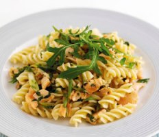 Summer Herb & Smoked Salmon Pasta recipe