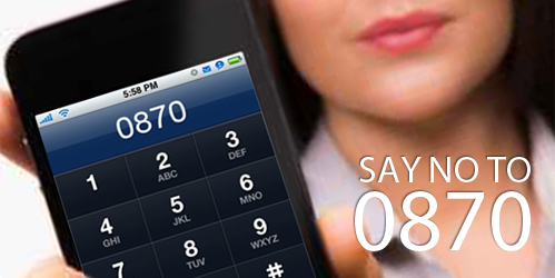 Say no to 0870