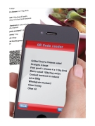 QR codes for ingredients shopping list