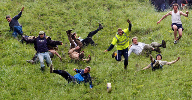 British  cheese rolling custom