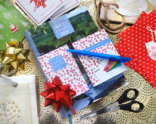 Dairy Diary Set 2014. The perfect Christmas Gift.
