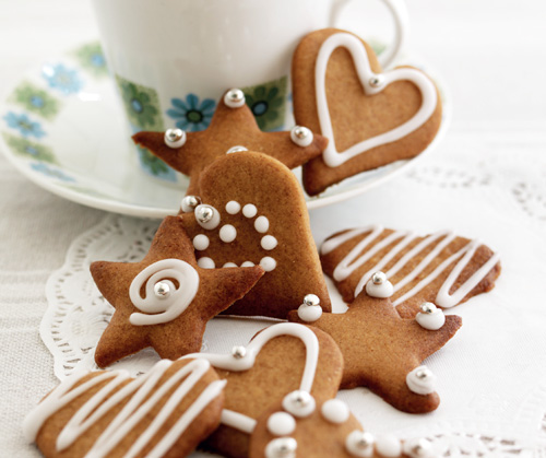 Dainty Iced Gingerbread