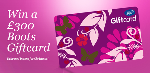 Win a £300 Boots Giftcard