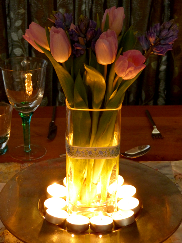 Romantic Candle Centrepiece
