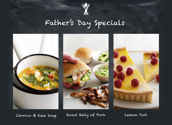 Fantastic Father's Day Menu