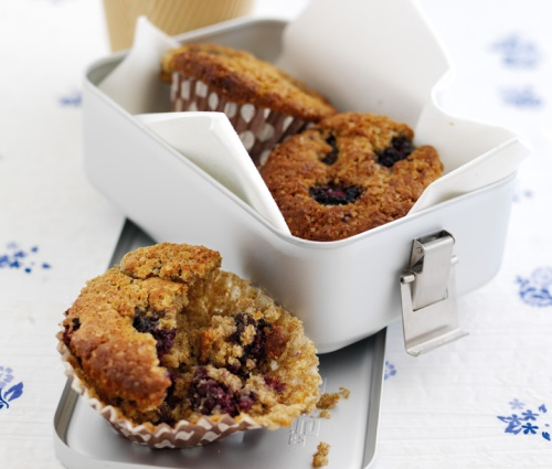 Lunchbox Blackberry Muffins - a Dairy Diary recipes