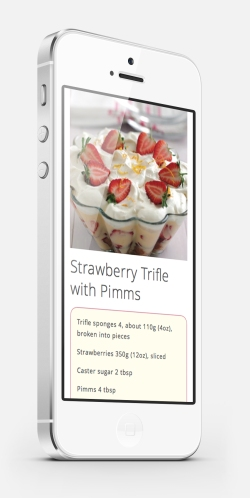 Strawberry Pimms Trifle
