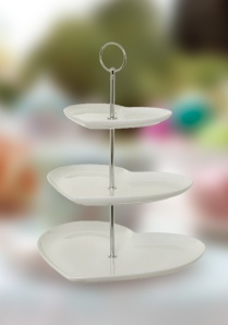 Win a three-teir china cake stand