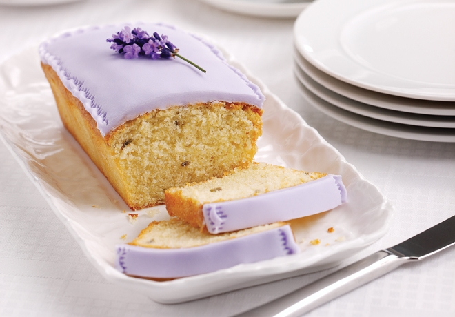 Afternoon Tea Iced Lavender Loaf