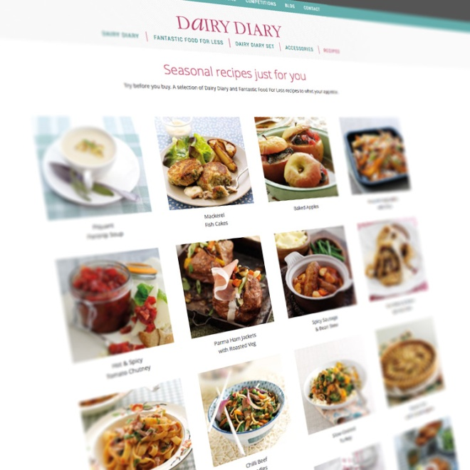 Seasonal recipes from the Dairy Diary