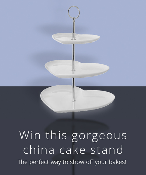 Win a gorgeous three-teir cake stand