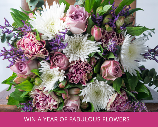 Competition. Win a year of flowers.