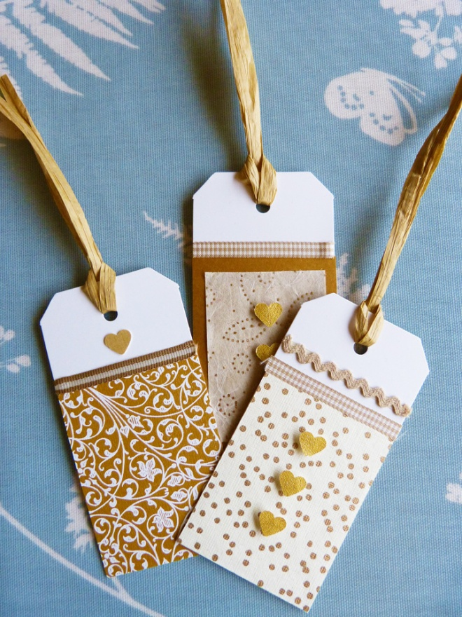 Homemade Christmas gift tags