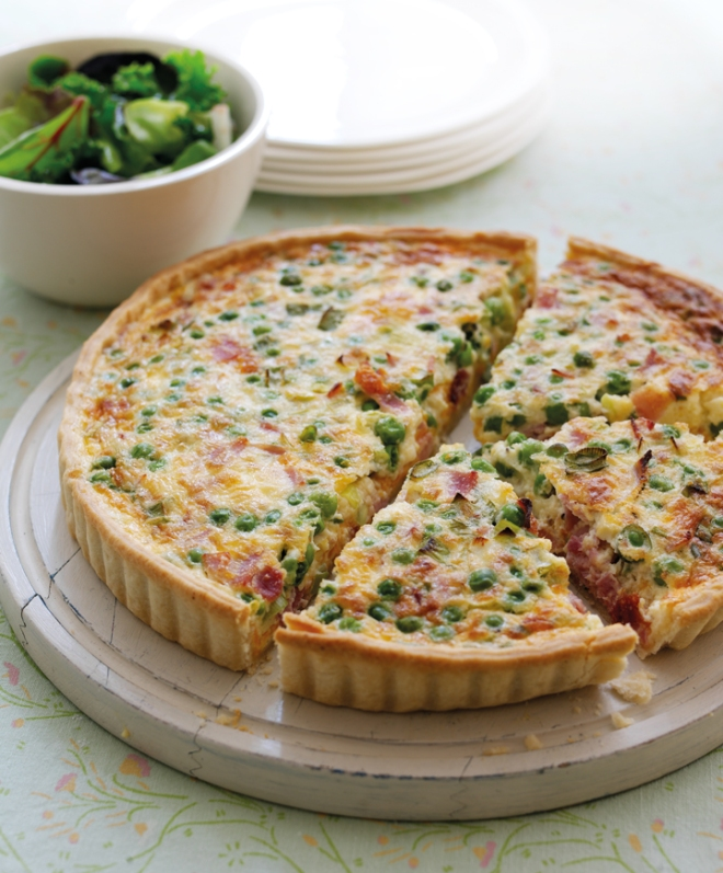 Pea and Ham Quicke recipe