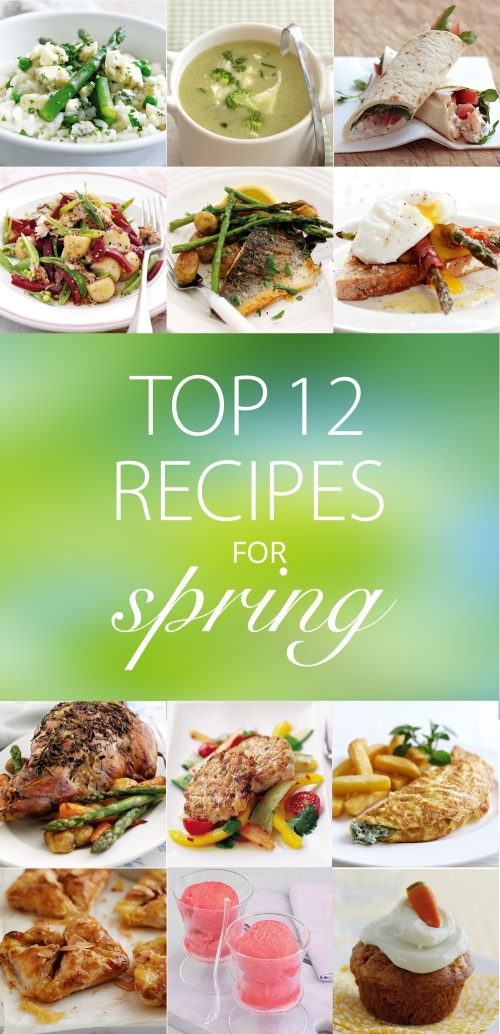 Top 12 recipes for spring
