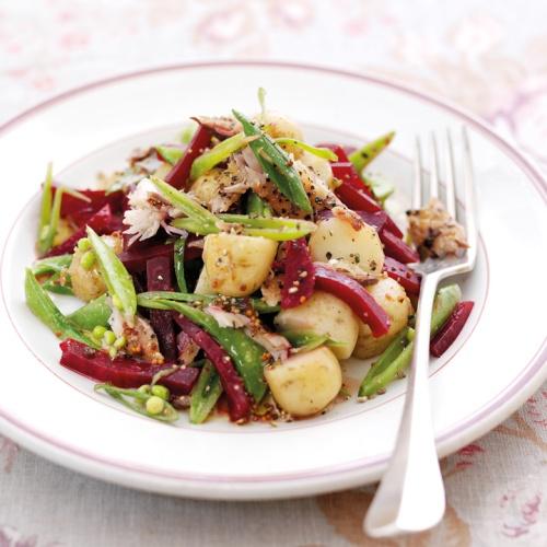 Potato, Beetroot & Mackerel Salad